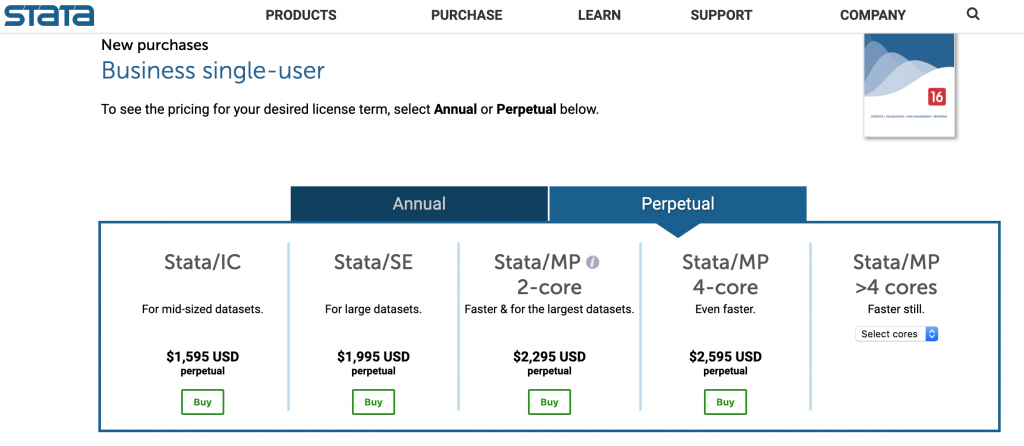 Stata business pricing 2