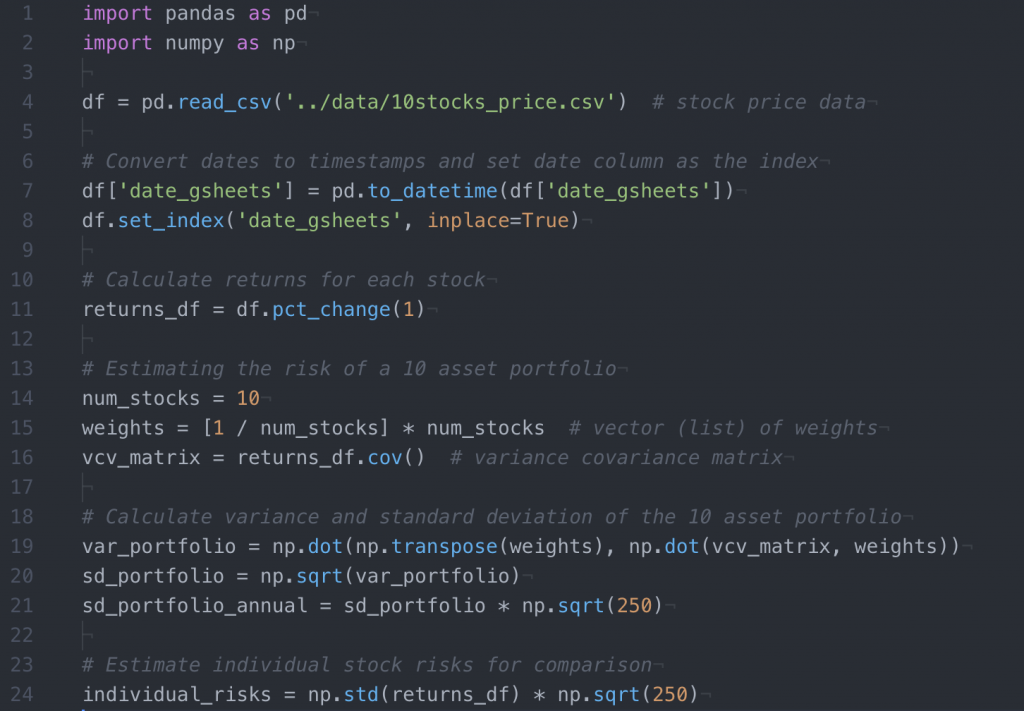 Example of Syntax Highlighting on Atom