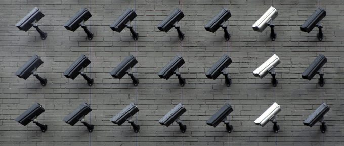 Feature Image showing loads of CCTV Cameras as a privacy concern